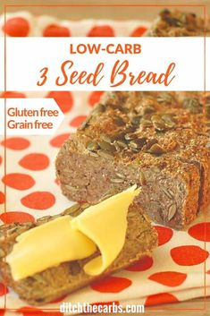 The famous low-carb 3 seed bread that kiwis and Aussies are raving about. Perfect with melted butter. Gluten free, grain free and super easy recipe to make. Gluten Free Recipes, Low Carb Recipes, Real Food Recipes, Bread Recipes, Bacon Cheeseburger Casserole, Seed Bread, Lowest Carb Bread Recipe, Chips, No Sugar Foods