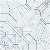 Silverfish, opus 449 Crease Pattern. The paper creases for an origami pattern