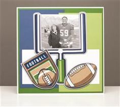 Football Scrapbook Page idea