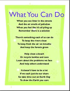 Environment Day Poems | environment day | Pinterest | Poem and ...