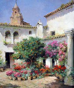 Cuadros Modernos Pinturas : Álbum de Paisajes Pintados al Óleo (Pueblos)