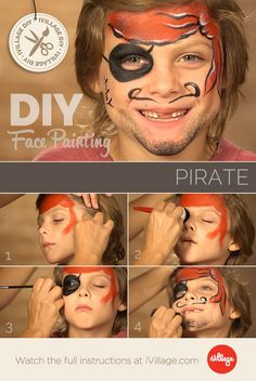 Argh! How To Do Pirate Face Paint for Kids! http://www