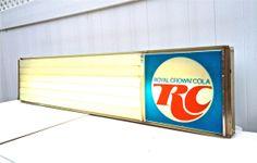 Vintage Royal Crown Cola Light Up Advertisement Sign