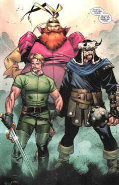 warriors three, asgardian style!  (via http://www.fantastic-four.nl/marvelheroes.htm)