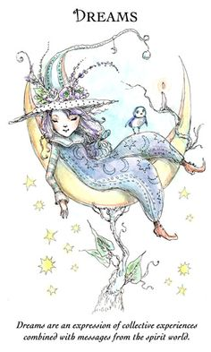 """☆ Witchling: Dreams """"Dreams are an expression of collective experiences combined with messages from the spirit world."""" -::- Artist Paulina Cassidy ☆"""