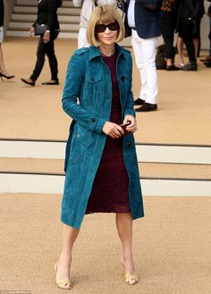 American Vogue editor Anna Wintour almost always pays a visit to the Burberry show when she is in London for Fashion Week