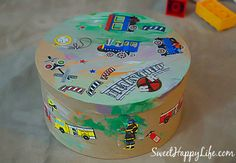 DIY Toddler Treasure Box, fun idea-- Having a specific sheet for under her table is a great idea. Preschool Projects, Craft Activities, Projects For Kids, Indoor Activities For Toddlers, Games For Toddlers, Diy Toy Box, Activity Box, Crafts To Do, Kid Crafts