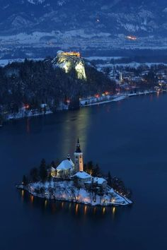 Magical place we used to go skiing every year - Bled, Slovenia