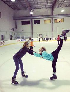 Cute ice skating friends photo idea