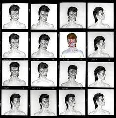Brian Duffy, 'David Bowie. Aladdin Sane (Contact Sheet),' 1973