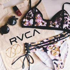 @jya_me featuring our Abstraction Bralette Swim Bikini Top | RVCA