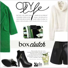 Pretty Box Clutches by aurora-australis on Polyvore featuring polyvore, fashion, style, Emilio Pucci, clothing, Sheinside, BOXCLUTCH and polyvoreeditorial