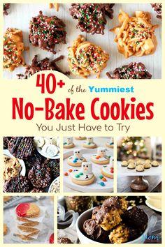 Pumpkin No Bake Cookies, Peanut Butter Banana Cookies, Chocolate No Bake Cookies, Low Carb Peanut Butter, Oat Cookies, Yummy Cookies, Brownie Cookies, Delicious Cookie Recipes, Best Cookie Recipes