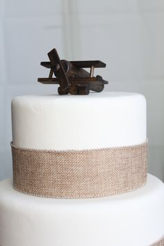 Airplane Cake Topper, Old-fashioned, Vintage Look Wood Toy Plane, smash the cake, overthetopcaketopper by OverTheTopCakeTopper on Etsy https://www.etsy.com/listing/270223705/airplane-cake-topper-old-fashioned