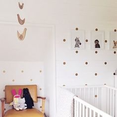 Loving this simple, stylish nursery set-up, featuring our bamboo bird mobile. From @coralandcloud on Instagram.