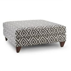 Stella Graphite Diamond-patterned Ottoman - Overstock Shopping - Great Deals on Ottomans