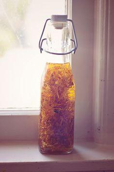 DIY: Skin Healing Calendula Oil for Face + Body   HelloNatural.co