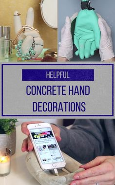 Decorate Your Home With This Personalized Concrete Hand DIY