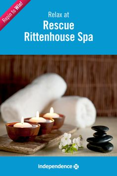 Let a spa treatment alleviate your stress and help you to relax. Follow IBX and repin this image for a chance to win a 100 dollar gift card to Rescue Rittenhouse Spa! #IBXStressFree