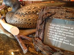 Duck Dynasty Party Decor Idea - use duck decoys, faux wooden sticks and rustic frames displayed around food items (pic only) Redneck Birthday, Hunting Birthday, Third Birthday, 4th Birthday Parties, Birthday Ideas, Duck Dynasty Party, Duck Commander, Duck Decoys, Rustic Frames