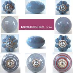 Lot de 8 boutons de porte placard tiroir meuble c ramique for Boutons de porte de placard originale