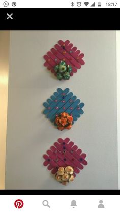 Ice Cream Stick Wall Hanging Projects To Try Ice Cream Stick