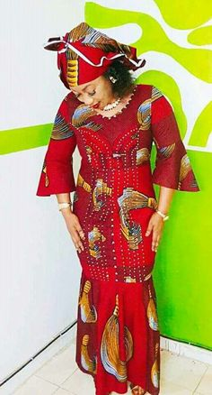 49 Trendy Ankara Dresses From Latest African Attires 2018 African Wedding Attire, African Attire, African Wear, African Women, African Outfits, Latest African Fashion Dresses, African Print Dresses, African Dress, African Blouses
