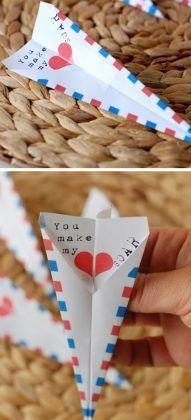 Paper Airplane Valentine Card | Easy Valentines Cards for Kids to Make