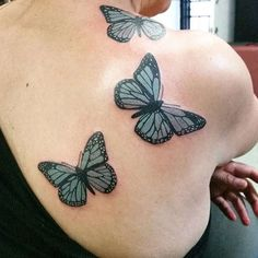 34 Best Butterfly Tattoos On Back Shoulder Images Butterflies