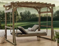 3 Ways to Use a Pergola with a Swing Bed Backyard Swings, Pergola Swing, Diy Pergola, Pergola Kits, Porch Swing, Diy Swing, Backyard Ideas, Outdoor Daybed, Outdoor Furniture