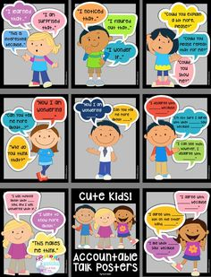 Teach your students to engage in scholarly discussions with accountable talk sentence stems. These stems help your students frame their thoughts in a thoughtful and respectful manner that promotes discussion and strengthens communication skills. Cooperative Learning, Kids Learning, Accountable Talk Posters, Talk Moves, Teaching Strategies, Teaching Rules, Leadership Activities, Group Activities, Teaching Ideas