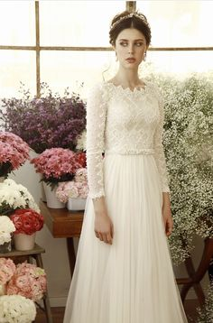 Beautiful Wedding Gowns Would Look Glamorous On All Sorts Of Brides-To-Be Looking for the perfect wedding dress? These are the most beautiful wedding dresses in history would look glamorous on all sorts of brides-to-be Wedding Dress Tight, Most Beautiful Wedding Dresses, Modest Wedding Gowns, Wedding Gowns With Sleeves, Long Sleeve Wedding, Perfect Wedding Dress, Dream Wedding Dresses, Bridal Dresses, Wedding Simple