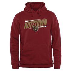 Kutztown Golden Bears Double Bar Pullover Hoodie - Maroon