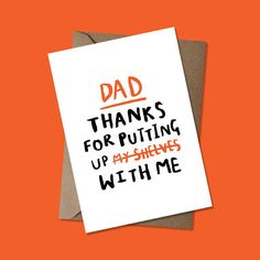 I dont know about you, but I dont know where Id be without my dad helping me with DIY stuff. Especially those pesky shelves! This simple hand lettered inky card is the perfect way to say thank you. ---------------------------------------------------------------------------------------------  -A6 Greeting Card -Blank inside for your message -Digitally Printed on 340gsm uncoated stock -Printed in the UK -Includes kraft envelope -Delivered in a sturdy Do Not Bend envelope  Lets be…