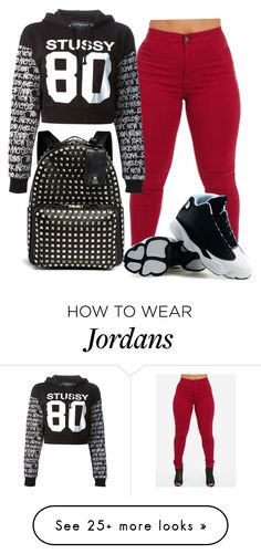 """❤️"" by lenathemusicfreak-mindless on Polyvore featuring Stussy, Retrò and Valentino"