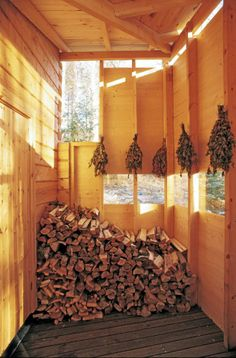 Traditional Saunas, Finnish Sauna, Log Homes, Finland, Firewood, My Dream, Barn, Cozy, House Design