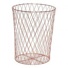 Hübsch Paper Basket `One size Fabrics : Metal * Color : Gold * Diameter : 30 cm, Height : 35 cm. http://www.MightGet.com/january-2017-13/hã¼bsch-paper-basket-one-size.asp