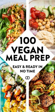 100 + Vegan meal prep ideas: these make-ahead vegan recipes will help you with plant-based meals for breakfast, lunch, dinner, dessert, and snack! recipes meals Vegan Meal Prep Ideas That Everyone Will Love Vegetarian Meal Prep, Vegan Meal Plans, Vegan Vegetarian, Vegetarian Recipes, Healthy Recipes, Delicious Vegan Recipes, Meal Prep For Vegetarians, Cheap Vegan Meal Plan, Vegan Lunch Healthy