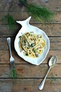 Spaghetti con sarde e cime di finocchio