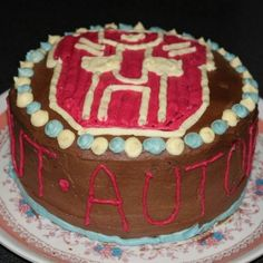 Vegan Birthday Cake... with Autobot Icing. #transformers