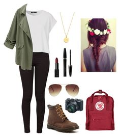 """Adventures ♥️"" by thankyouforbreathing on Polyvore featuring American Apparel, Dr. Martens, Fjällräven, Forever 21, NARS Cosmetics, Mary Kay, Kate Spade, women's clothing, women and female"