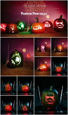 Whether you're a pumpkin Padawan or a carving master, you'll LOVE these Star Wars Force Awakens pumpkins and our free printable patterns!