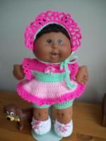 """Colourful Times - 14"""" CPK baby. - Free Original Patterns - Crochetville"""