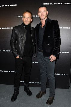 Milan Fashion Week Menswear - Diesel Black Gold, 17 Jan - Фотоальбомы - Luke Evans (Люк Эванс)