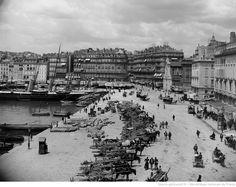 Marseille : quai de la Fraternité, charette. [Cote :GLT155F]