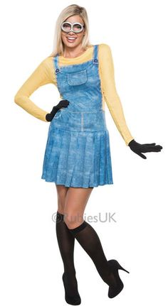 This Adult Female Minion Costume will let you become the cutest villains of them all. Just go in this costume, and start working on your Minion vocabulary! Costume Minions, Adult Minion Costume, Adult Costumes, Costumes For Women, Despicable Me Fancy Dress, Minion Dress, Minion Shoes, Minion Halloween Costumes, Despicable Me