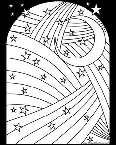 Rainbow Moon And Stars Coloring Page Available In Jpg Png Format Free ColoringColoring BooksColoring