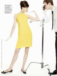 Lena Lomkova by Walter Chin forGlamour UK (March 2013).