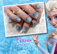 Little Girl Nail Design Ideas this nail art is especially for little girls you can easily make this nail art at home because it is very easy to do Frozen Nails Nail Art Winter Nail Designs Elsa Nails Little Girl Nail