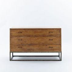 Copenhagen Reclaimed Wood 3-Drawer Dresser - Wide | West Elm